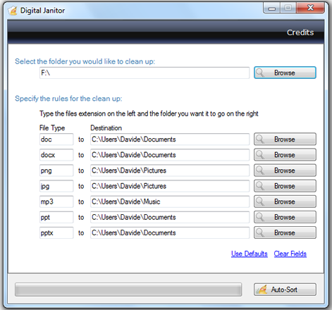 Organiza de forma automática los ficheros de una carpeta