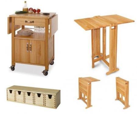 Cocinas peque as utensilios accesorios y complementos for Muebles auxiliares de cocina