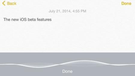 La función Voice-to-text de iOS 8 funciona a las mil maravillas