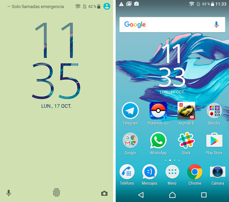 Sony xperia x compact Software