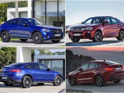 Mercedes-Benz GLC Coupé vs BMW X4: comparativa visual