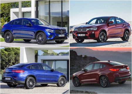 Mercedes-Benz GLC Coupé vs BMW X4: comparativa visual