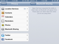 Bluetooth Sharing, la nueva incorporación de iOS 6