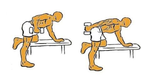 Guía para principiantes (XVIII): Extensión alternada de codos, tronco inclinado