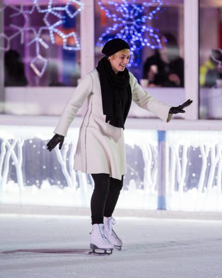 Kate Winslet Ice Skating Movie Set Photos February 2016