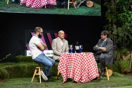 Tao Platon Gonzalez Antonio Tomas Palacios Y Juancho Asenjo En The Wine Edition De Madrid Fusion 21