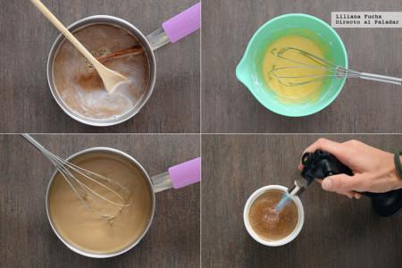crema catalana de café. Pasos