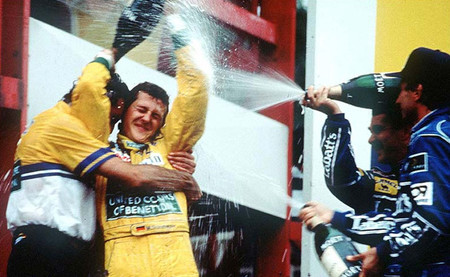 Podio GP Bélgica 1992