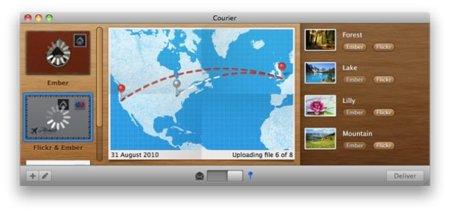 Courier, una interesante aplicación para subir archivos a Internet