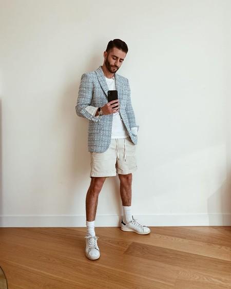 Prince Pelayo Diaz Short Ancho Pantalon Corto Trendencias Hombre Street Style 09