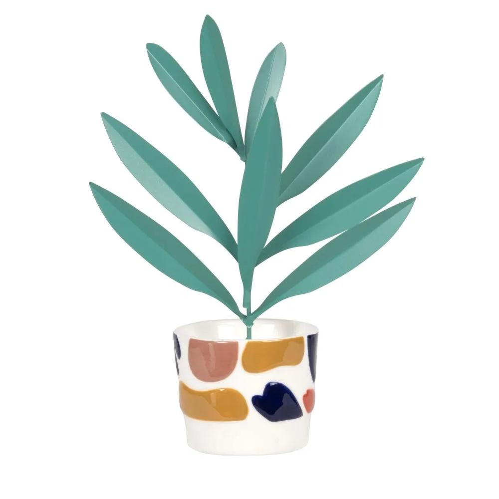 Planta decorativa de cerámica