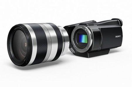 Sony llevará los objetivos intercambiables y sensores Exmor APS HD CMOS a las videocámaras