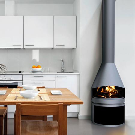 Chimeneas y estufas todas las opciones para dar calor al for Chimeneas para pisos