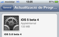 Apple lanza iOS 5 beta4 mediante una actualización OTA