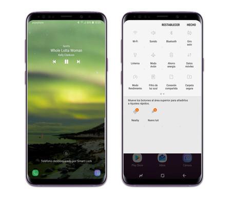 Interfaz Galaxy S9+