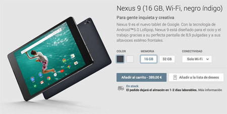 Nexus 9 ya disponible oficialmente