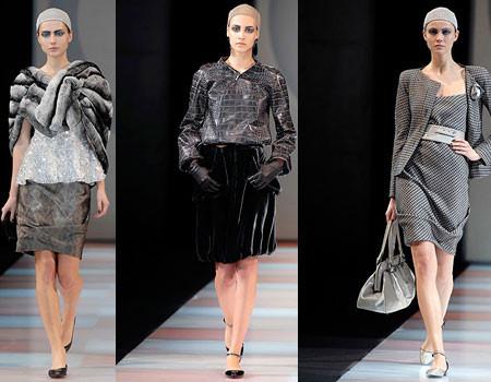 Giorgio Armani en la Semana de la Moda de Milán