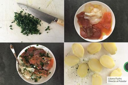 Bocaditos de Patata y Ahumados. Pasos