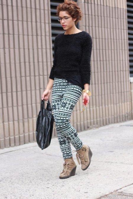 Leggings Moda en la calle