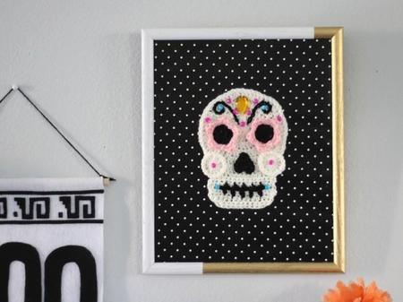 Los DIY más terroríficos: calaveras con hilo para tu decoración de Halloween