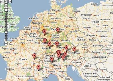 Mapa Motor Bike Hotels