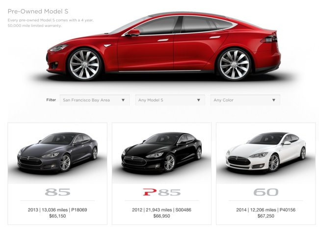 Model S Segunda Mano