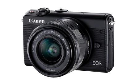 EOS M100; una interesante sin espejo de Canon que, con objetivo 15-45, hoy en la Red Night de MediaMarkt tenemos por 349 euros