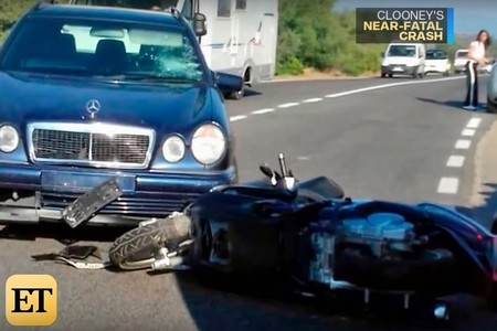 Accidente George Clooney