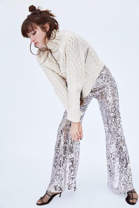 Pantallones Flare Zara