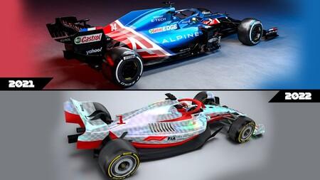 Formula 1 2022 autos regulaciones comparación  3