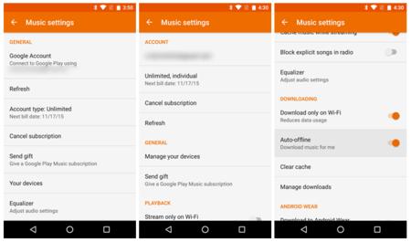 Google Play Music v6.1 prepara el camino para nuevas funciones