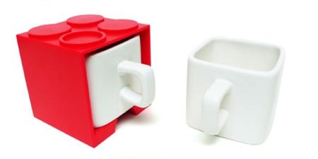 Tazas cuadradas inspiradas en Lego