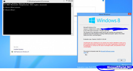 Screenshot Windows Blue
