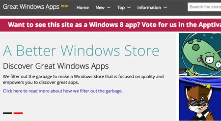 Great Windows Apps, te muestra sólo lo mejor de la Windows Store