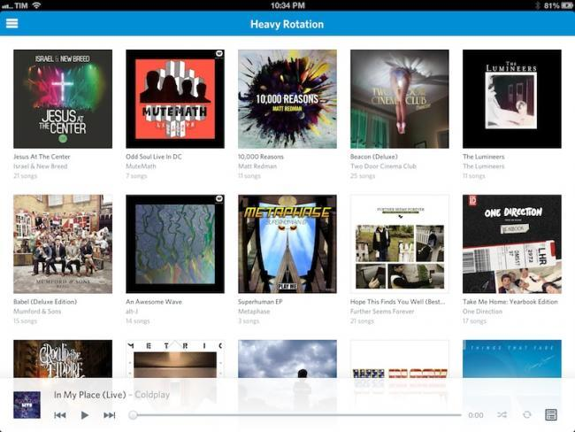 rdio ipad ios