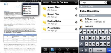 Alfresco Mobile se integra con QuickOffice