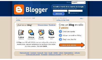 Herramientas para crear un blog I: Blogger