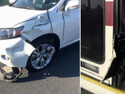 ¿Recuerdas cuando el coche autónomo de Google chocó con un autobús? Aquí está el incidente en vídeo