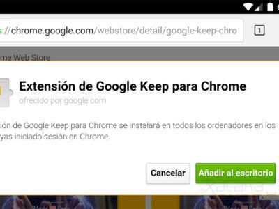 Ya puedes instalar extensiones de Chrome desde tu móvil a tu ordenador