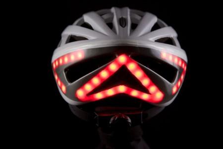 Lumos Bike Helmet White Helmet Brake Light