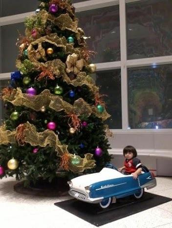 La fotó de tu bebé: Juan Pablo en su primer viaje navideño