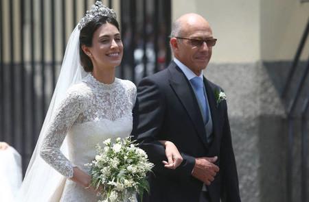 El vestido de novia de Alessandra de Osma en su boda religiosa con el príncipe Christian de Hannover
