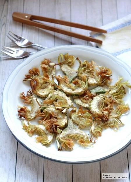 Chips crujientes de alcachofa