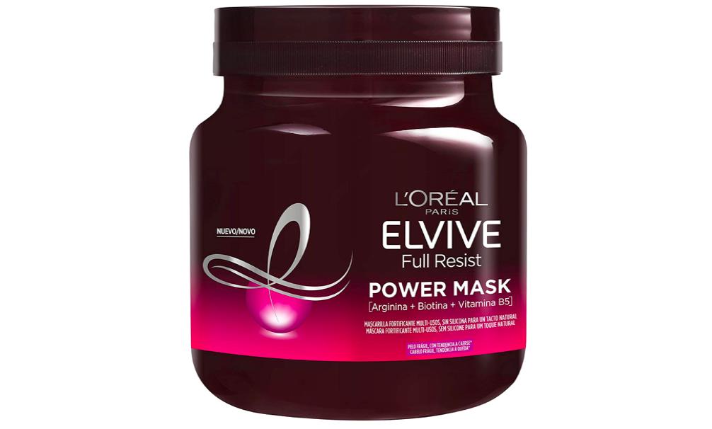 L'Oréal Paris Elvive Full Resist Mascarilla Fortificante Multi-usos Power Mask, Para Pelos Frágiles, Banana, 680 Mililitro