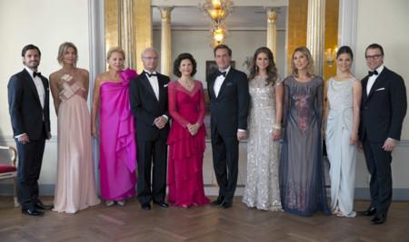 Derroche de glamour en la cena de gala previa a la gran Boda Real sueca