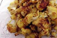 Coliflor con curry al horno. Receta