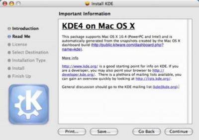 Guía para instalar KDE 4 en Mac OS X