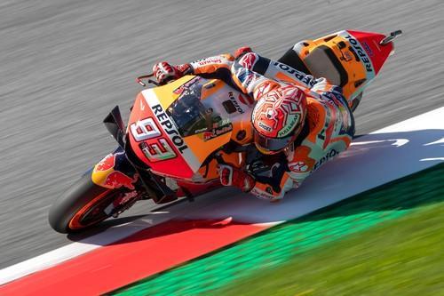 Marc Márquez empieza a meter miedo a Ducati consiguiendo el mejor tiempo en los FP2 de Austria