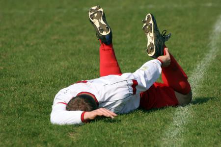 Lesión en el fútbol