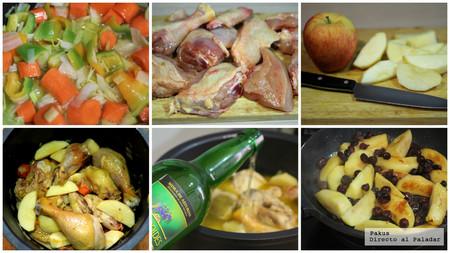 Pollo A La Sidra Manzana Arandanos Pasos